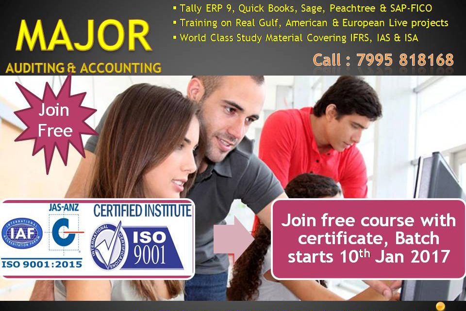 Free Accounting Course, Major Accounting Hyderabad - Major